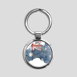 vintageAustralia7 Round Keychain