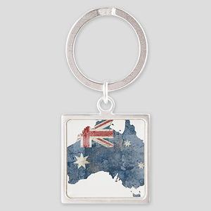 vintageAustralia7 Square Keychain
