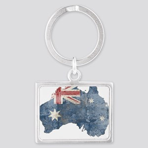 vintageAustralia7 Landscape Keychain