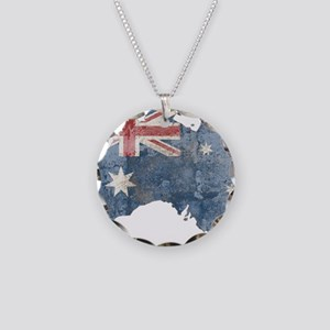 vintageAustralia7 Necklace Circle Charm
