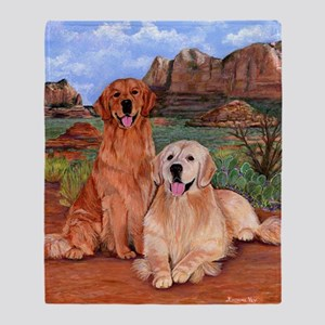 twodogs9x12h Throw Blanket