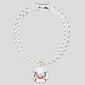Bingo Champion White Dov Charm Bracelet, One Charm