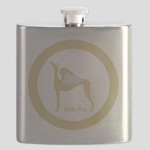SOLLIE BOY ANGEL GREY GOLD RIM ROUND ORNAMEN Flask
