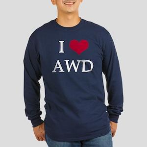 2 Colors! I Heart AWD Long Sleeve Dark T-Shirt
