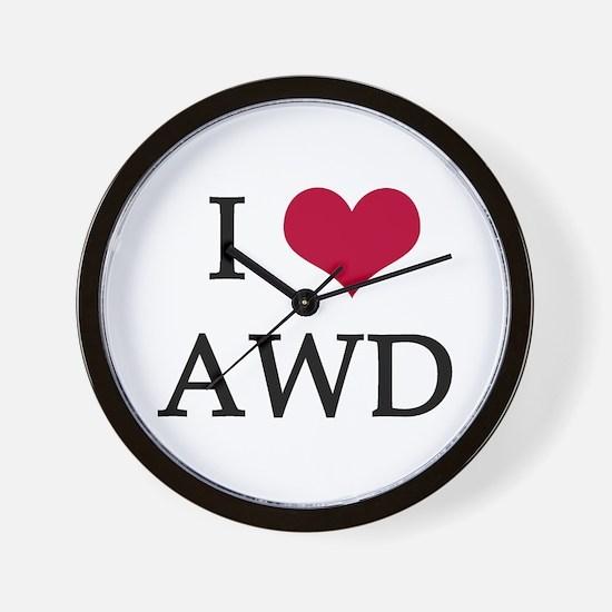 I Heart AWD Wall Clock