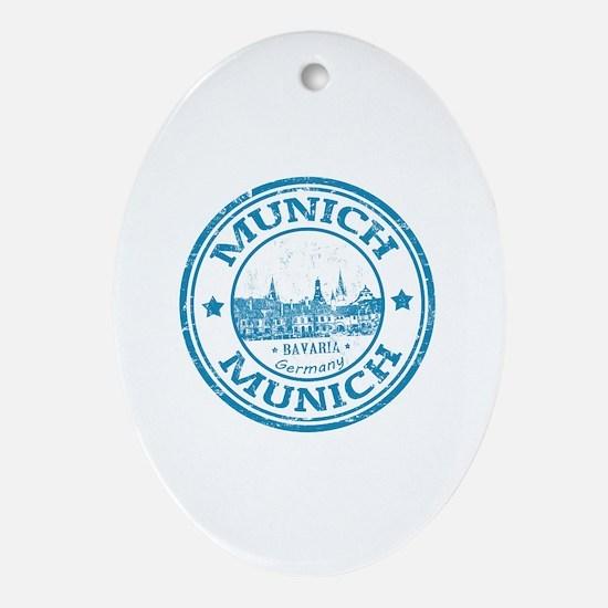 Cute Munich Oval Ornament