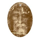 Shroud of Turin Oval Ornament