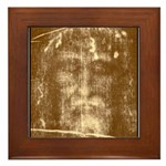 Shroud of Turin Framed Tile