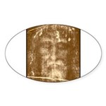 Shroud of Turin Oval Sticker