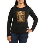 Shroud of Turin Women's Long Sleeve Dark T-Shirt