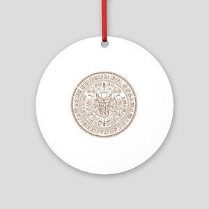 2012 MAYAN CALENDAR DARK Round Ornament