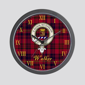 Walker Clan Crest / Tartan Wall Clock