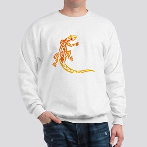 lizard_1 orange 8x7_ Sweatshirt