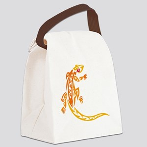 lizard_1 orange 8x7_ Canvas Lunch Bag