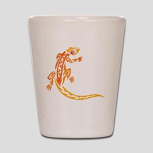 lizard_1 orange 8x7_ Shot Glass