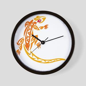 lizard_1 orange 8x7_ Wall Clock