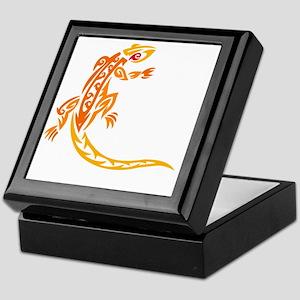 lizard_1 orange 8x7_ Keepsake Box
