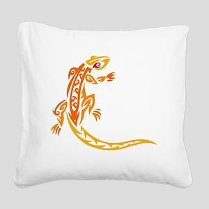 Lizard orange 10x10 Square Canvas Pillow