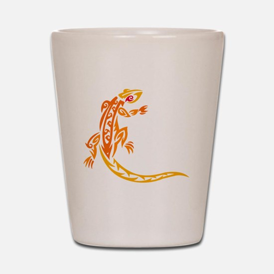Lizard orange 10x10 Shot Glass