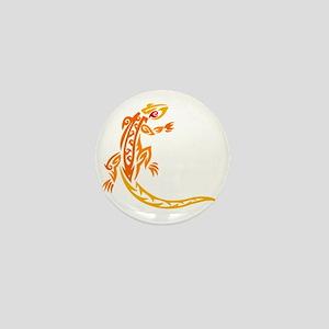 Lizard orange 10x10 Mini Button
