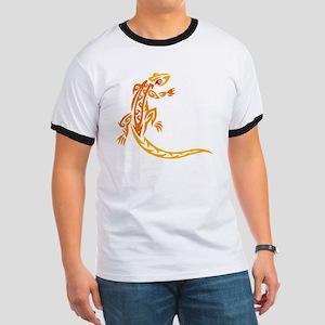 Lizard orange 10x10 Ringer T