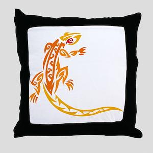 Lizard orange 10x10 Throw Pillow