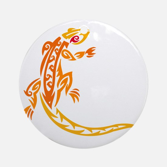 Lizard orange 10x10 Round Ornament
