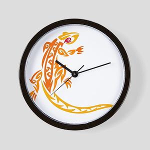 Lizard orange 10x10 Wall Clock