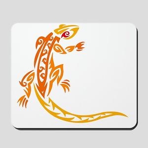 Lizard orange 10x10 Mousepad