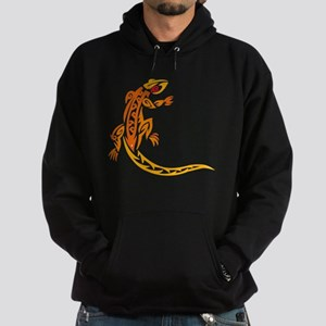 Lizard orange 10x10 Hoodie (dark)