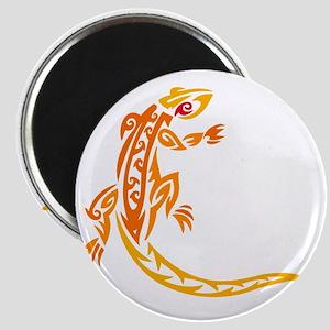 Lizard orange 10x10 Magnet
