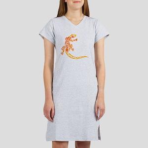 Lizard orange 10x10 Women's Nightshirt