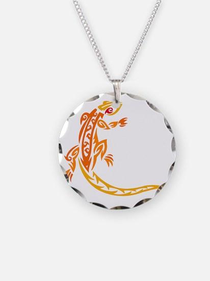 Lizard orange 10x10 Necklace