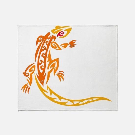 Lizard orange 10x10 Throw Blanket
