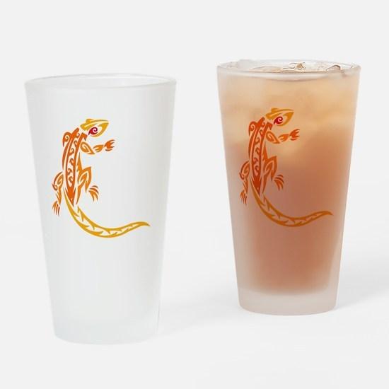 Lizard orange 10x10 Drinking Glass