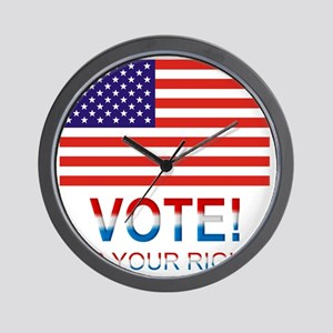 Vote2 Wall Clock