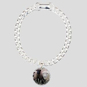 3 Sheep at Wachusett Charm Bracelet, One Charm