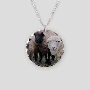 3 Sheep at Wachusett Necklace Circle Charm