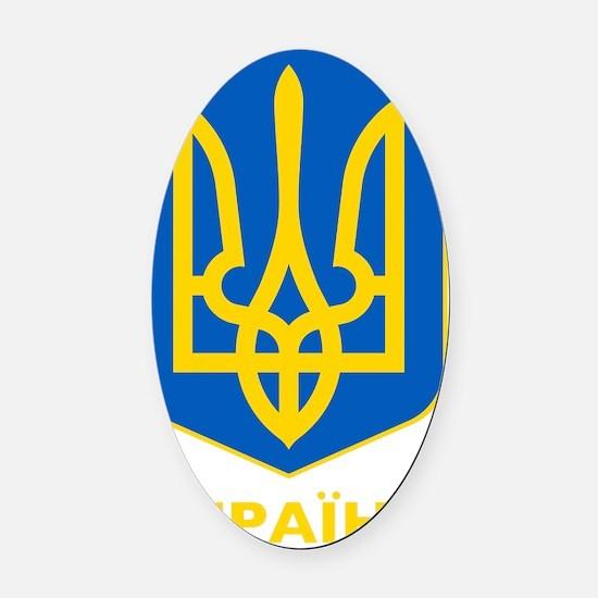 Ukraine Coat of Arms Oval Car Magnet