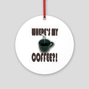 Coffee Addict Three Ornament (Round)