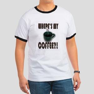 Coffee Addict Three Ringer T