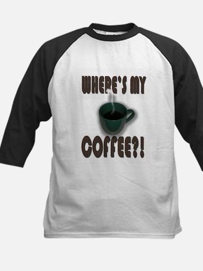 Coffee Addict Three Kids Baseball Jersey