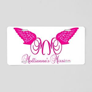 pink_trans Aluminum License Plate