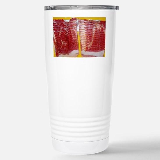 bacon laptop skin Stainless Steel Travel Mug
