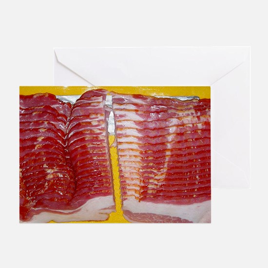 bacon laptop skin Greeting Card