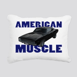 american muscle charger  Rectangular Canvas Pillow