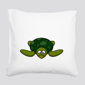 Shell Yeah White Square Canvas Pillow