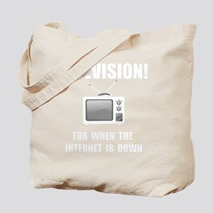 Television Internet White Tote Bag