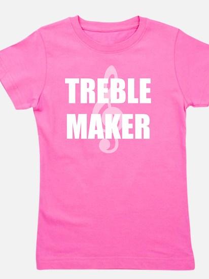 Treble Maker White Girl's Tee