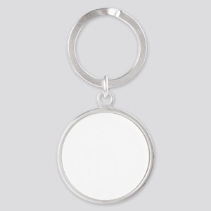 Treble Maker White Round Keychain